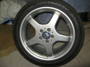 18 inch Pirelli Sottozero Winter Snow tires on AMG rims