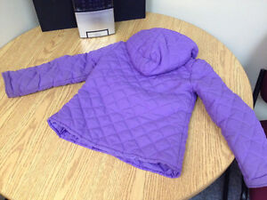 Lavender quilted cotton coat w/hood; excellent condition; sz 5 Peterborough Peterborough Area image 3