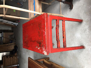 STUNNING Antique Red / Rustic Chinese Hall Table / TV Table