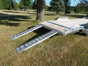 NEW 2016 - All Aluminum 24' Car Hauler with Alum Pullout Ramps