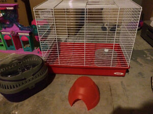 hamster cage and travel cage