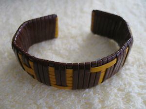 UNIQUE OLD HAND-CRAFTED THONGED CUFF-STYLED BRACELET