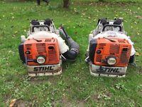 2 Stihl BR420 leaf blowers