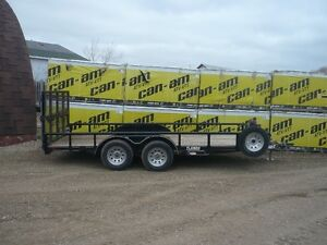 2016 Diamond C 16' Foot Double Axle Trailer for sale!