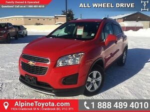2015 Chevrolet Trax LT   Low km, local one owner, AWD!