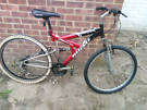 FULL SUSPENSION MOUNTAIN BIKE SUIT GENTS LADY OR TEEN GOOD CONDITION