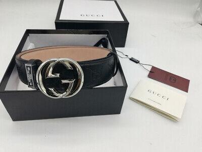 Authentic Gucci  BLACK Men's Belt  size 90/36