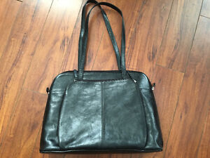 Swiss Army genuine leather bag with laptop component