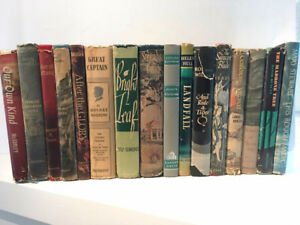 16 Various Vintage Books with Dust Covers 1930 - 1964, Nice Set