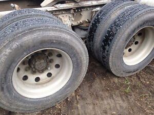 295/75R22.5 Semi truck tires for sale.