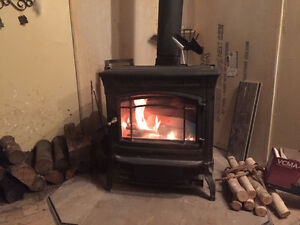 HEARTH STONE SHELBURNE WOOD STOVE BLACK