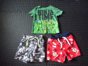 Boys (12-18 mth) swimsuits & t-shirt