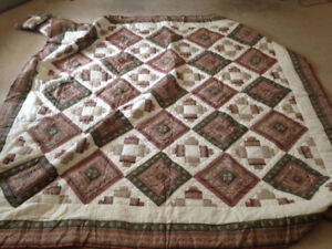 Home Decor - handmade patchwork quilt