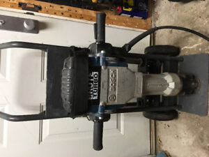 Bosch brute turbo jackhammer /breaker with cart and 3 bits