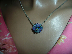 Necklace dodecahedron Crystal Swarkovski