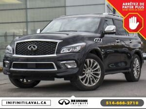 2017 Infiniti QX80 4WD 7 places TECHNOLOGIE NAV DVD