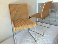 CHAISE EN OSIER POUR SALLE A MANGER / WICKER DINNING ROOM CHAIRS