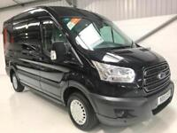 FORD TRANSIT TREND LOW MILEAGE BLACK VAN MEDIUM MWB 2.2TDCi 125PS L2H2 WHEELBASE