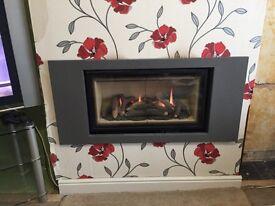 Gas log effect fire