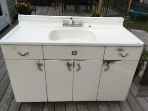 Youngstown Vintage Metal Sink and Cabinet