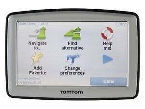 TomTom XL GPS with car adapter