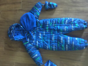 18-24 month one piece winter suit for boy