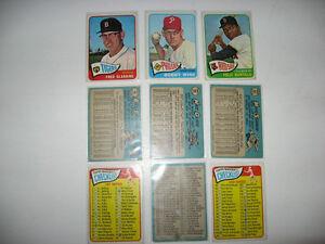 Bowman 1990a1998OPC 1965a1987 Topps 1970a75 1981a84  Baseball