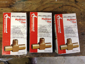 3/4 x 3/4 x 3/4 Hydrant Tee - 3 of them - Brand new in box