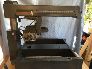 """Craftsman 10"""" Radial Arm Saw and accessories."""