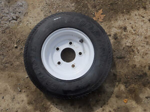 4.8 by 8 Carlisle Trailer Tires ans Rims