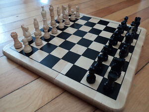 Wood Chess Board + checkers