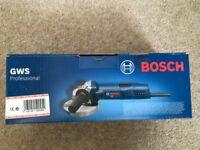 "Brand new Bosch 4"" angle grinder"