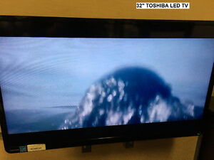"TOSHIBA 32"" LED TV - $115.00"