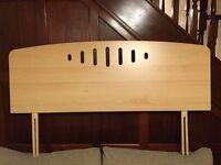 MDF Beech effect Headboard Double Bed