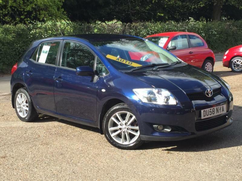 2008 toyota auris 1 6 mmt tr automatic 5 door blue only 50 565 miles superb in high. Black Bedroom Furniture Sets. Home Design Ideas