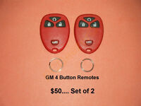 GM 4 Button Remotes.... Brand New