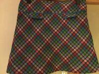 NESS 100% Wool A-Line Skirt Size 14