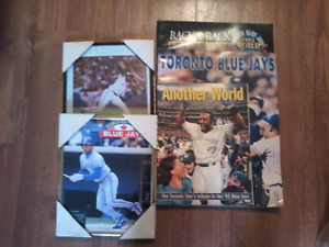 Toronto Blue Jays 2 pictures and 3 commemorative collector books