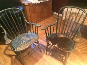 Wooden chairs $25