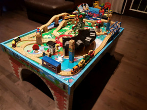 Thomas Train Action Table with Wooden Railway