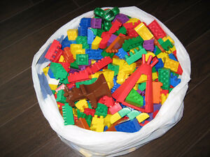 Large bag of Mega Blocks
