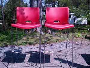 Funky red bar stools