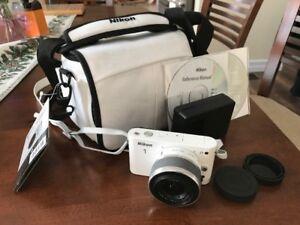 Nikon Digital-Camera-White-Kit-w-VR-10-30mm lens c/w 8 GB card