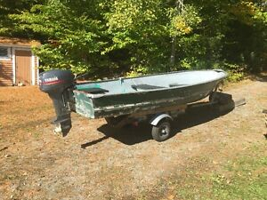 14 ' Aluminim Boat, 9.9 HP motor and Trailer