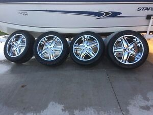 "22"" DUB wheels with tires London Ontario image 1"