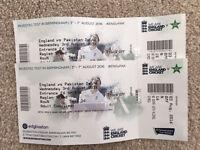 England vs Pakistan cricket match tickets edgbaston