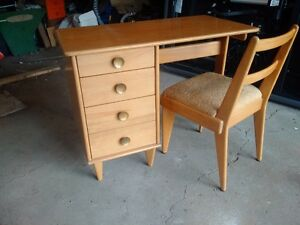 Mid Century Snyder's Desk and Chair