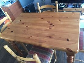 Pine table (chairs have been sold)