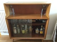 Retro Vintage Wooden Cabinet (contents not included)