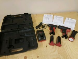 Snap-on cordless screwdriver set